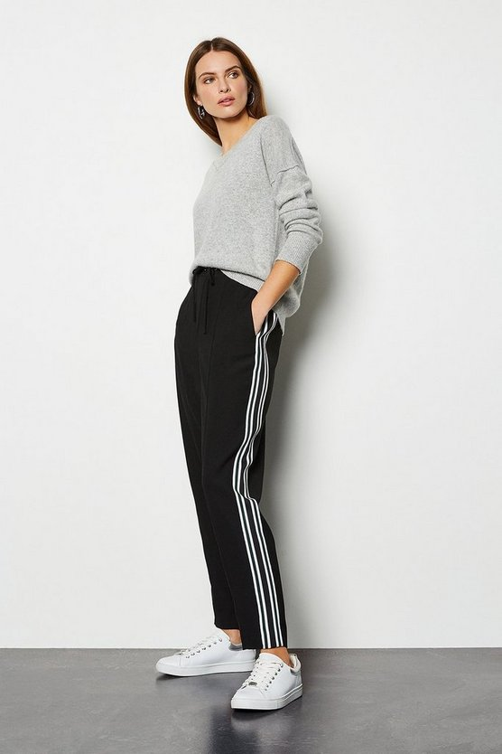 Black Trouser With Side Stripe