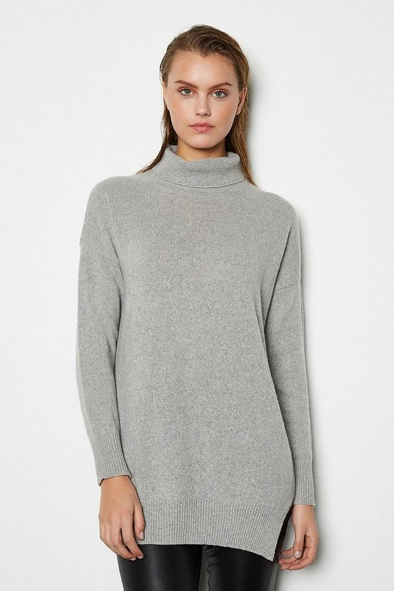 Grey Recycled Cashmere Oversized Jumper