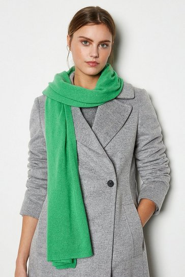 Womens Apple green Recycled Cashmere Scarf