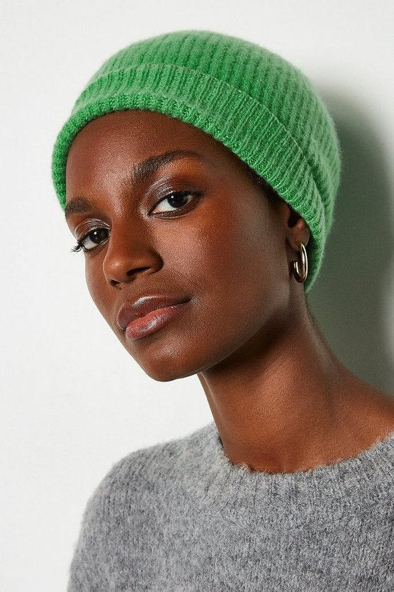 Apple green Recycled Cashmere Hat