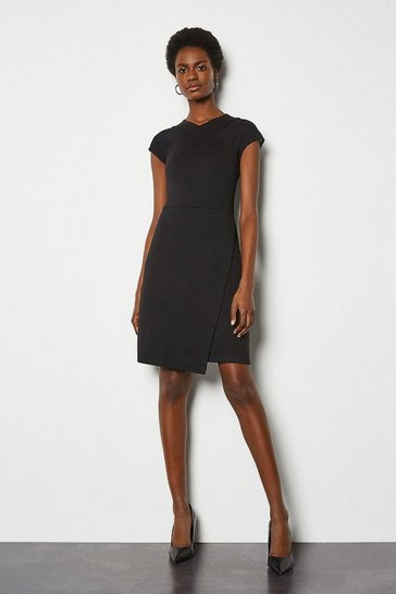 Black Mesh and Jersey Mix Dress