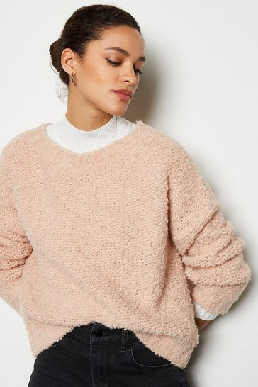 Blush Boucle Knit Jumper