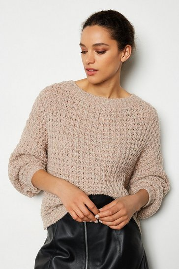 Blush Oversized Chunky Knit Jumper