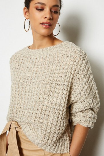 Stone Oversized Chunky Knit Jumper