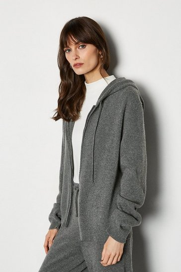 Grey Cashmere Hoody