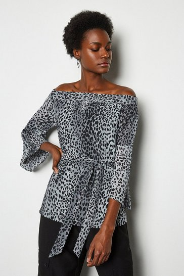 Multi Leopard Print Top