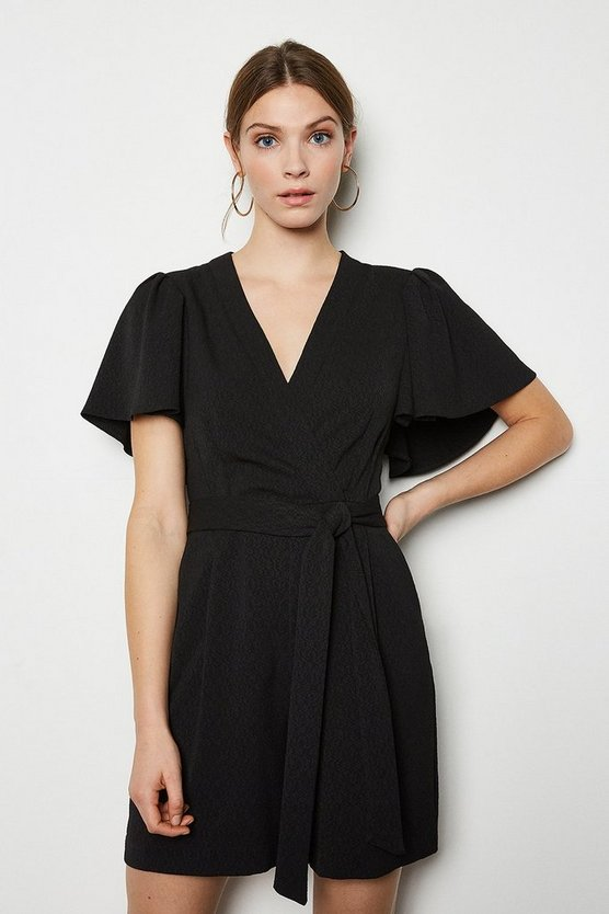 Black Jacquard Playsuit