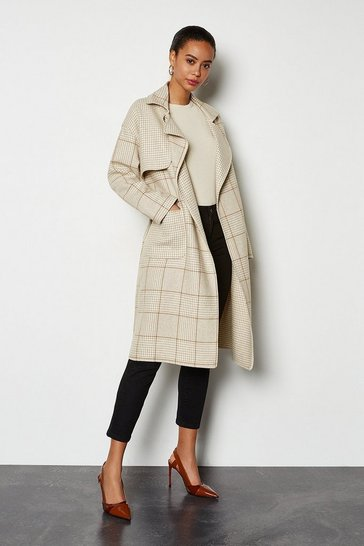Camel Check Coat