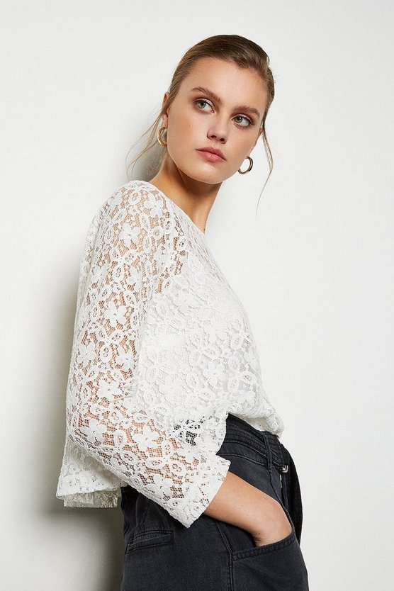 Ivory Lace Top