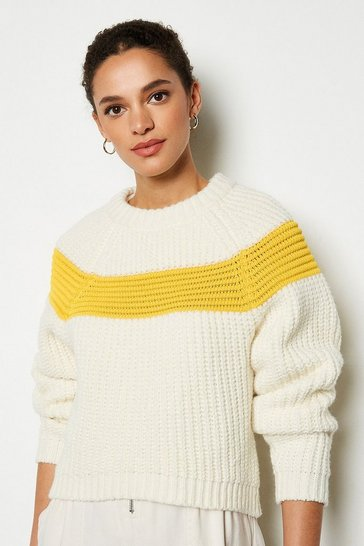 Yellow Contrast Stripe Jumper