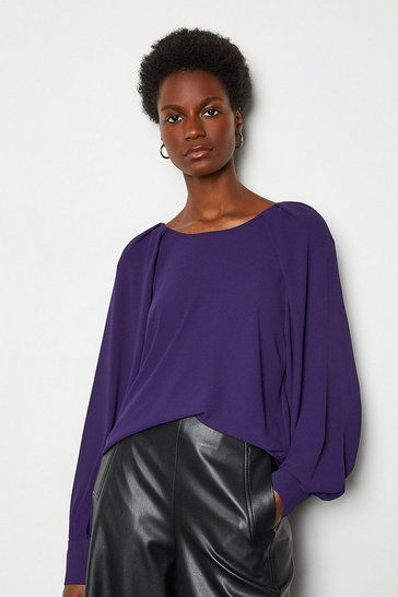 Violet Balloon Sleeve Top