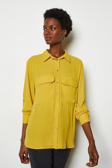 Yellow Long Sleeve Utility Shirt