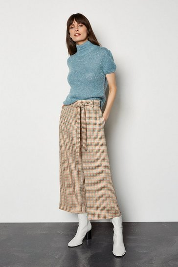 Multi 70s Crop Check Culotte