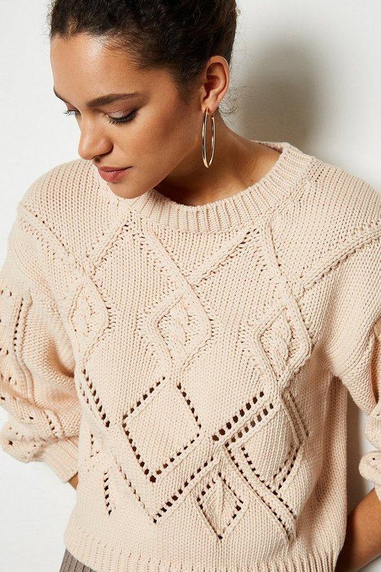 Blush Cotton Mix Capsule Knit Jumper