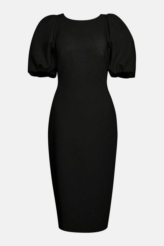 Puff Sleeve V Back Dress Puff Sleeve V Back Dress by Karen Millen