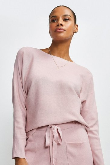 Blush Long Sleeve Soft Yarn Jumper