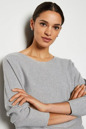 Grey Long Sleeve Soft Yarn Jumper