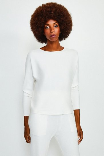 Ivory Long Sleeve Soft Yarn Jumper