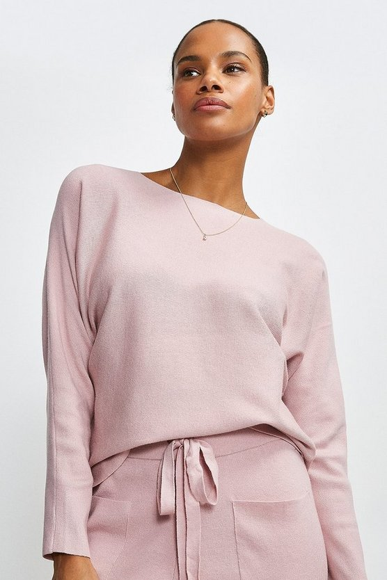 Pale pink Long Sleeve Soft Yarn Jumper