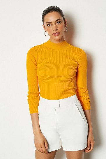 Gold Skinny rib jumper