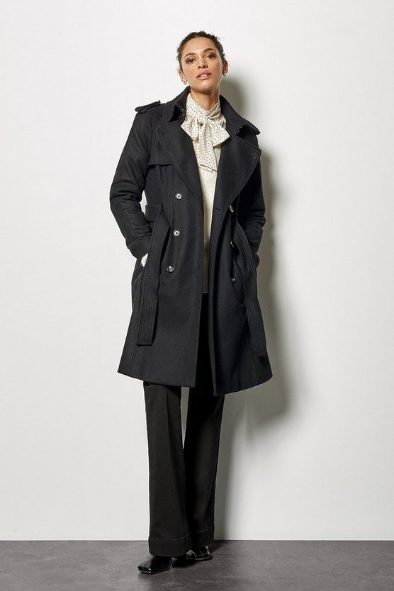 Black Belted Classic Coat