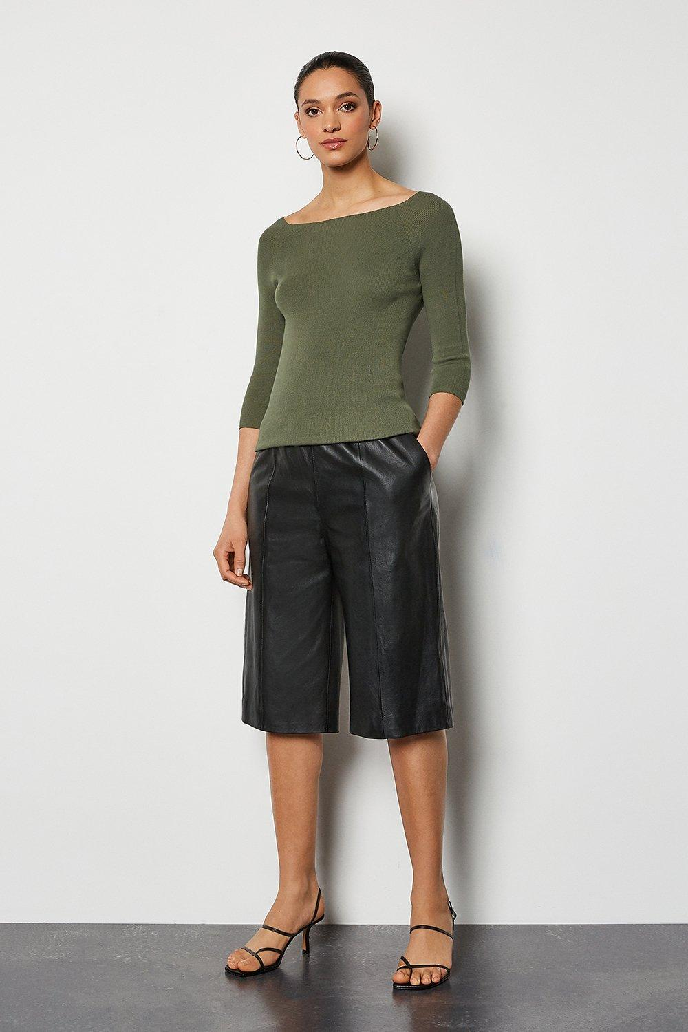 Leather Culotte | Karen Millen