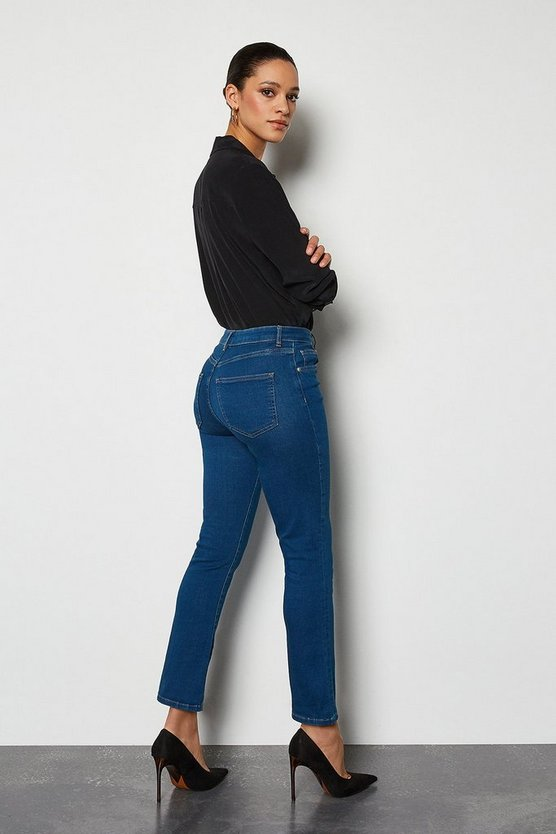 Vintage blue Power Stretch Vintage Kick Crop Jeans