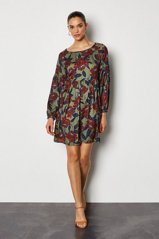 Multi Floral Tunic Kaftan Dress