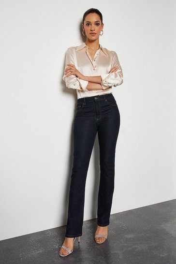 Power Stretch Indigo Long Kick Jeans