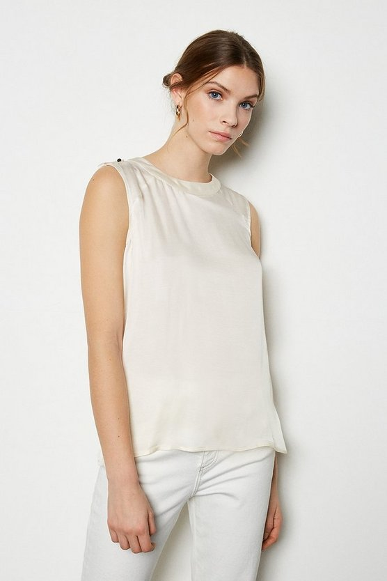 Ivory Military Shell Top