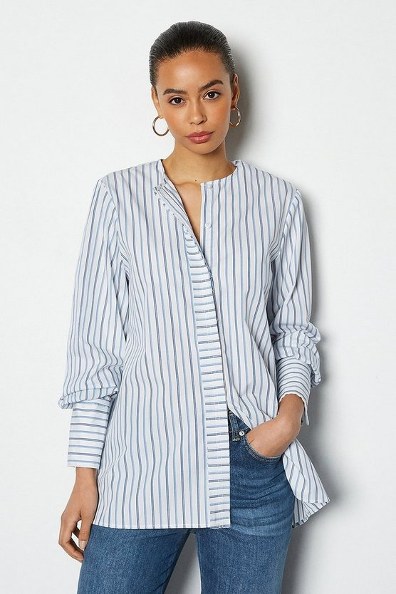 Oversized Poplin Stripe Shirt