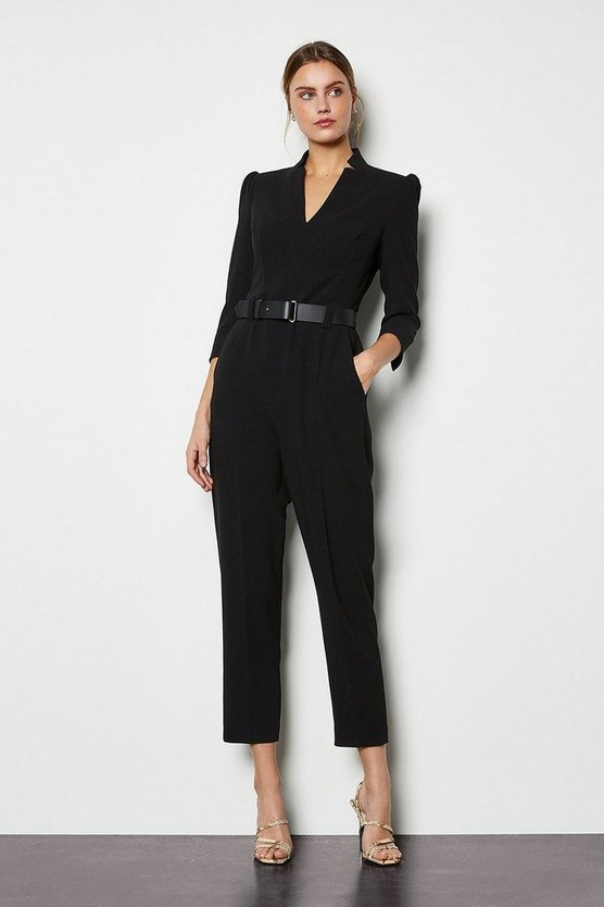 Black Forever Belted Jumpsuit