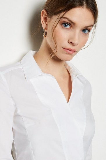 Tailored Wrap White Shirt