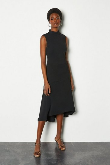 Black Soft Midi Day Dress