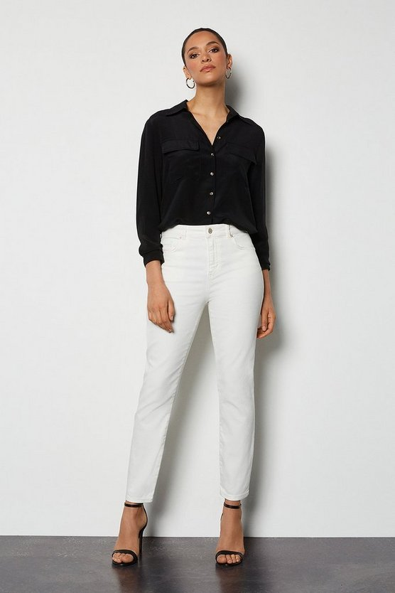 Organic Slim Cigarette Off White Jeans