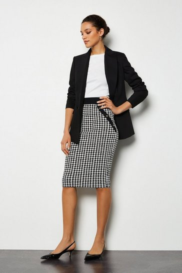 Blackwhite Dog Tooth Skirt