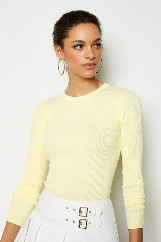 Lemon Essential Skinny Rib Jumper