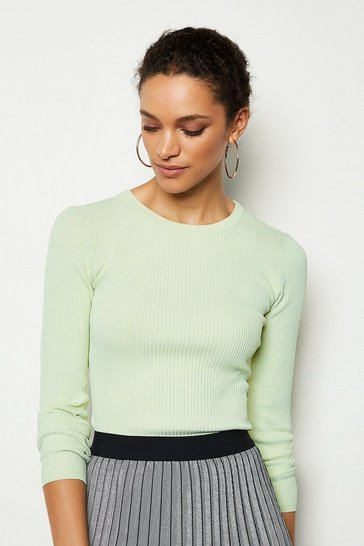 Mint Essential Skinny Rib Jumper