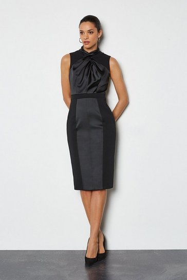 Black New Knot Occasion Dress
