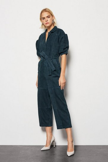 Blue Suede Jumpsuit