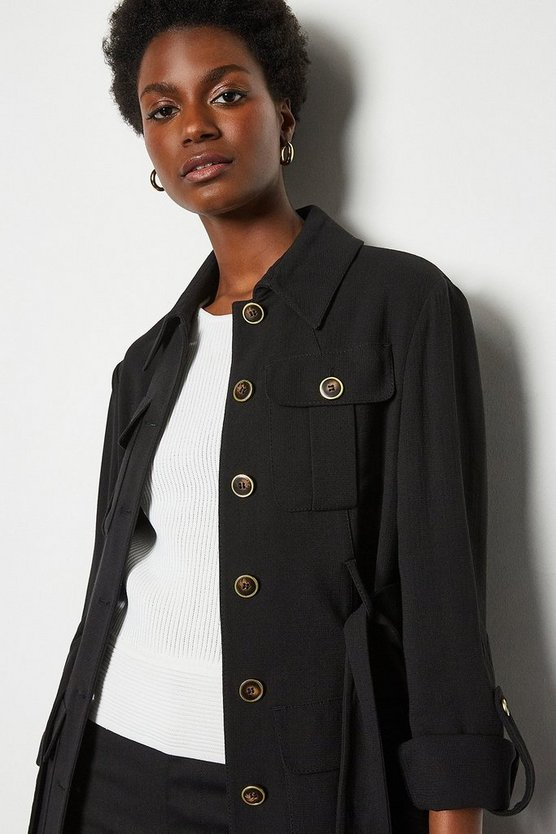 Black Tailored Military Jacket