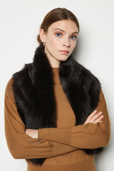 Chocolate Forever Faux-Fur Collar Coat