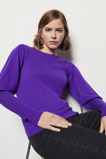 Purple Volume Sleeve Jumper