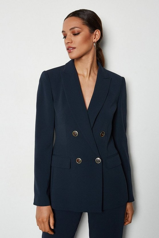 Navy Tailored Double-Breasted Jacket