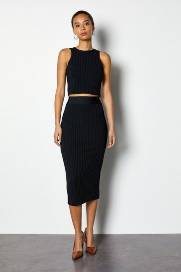 Black Midi bandage pencil skirt