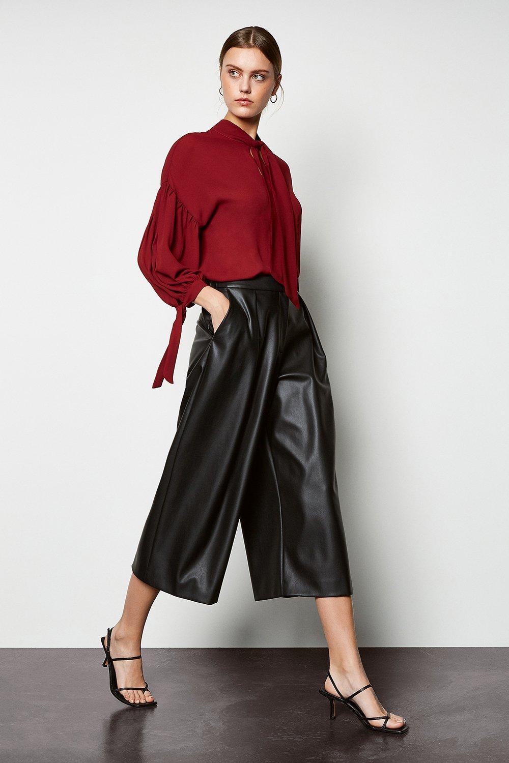 Faux Leather Culottes | Karen Millen