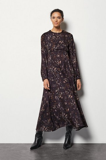 Womens Multi Camo Print Maxi Dress