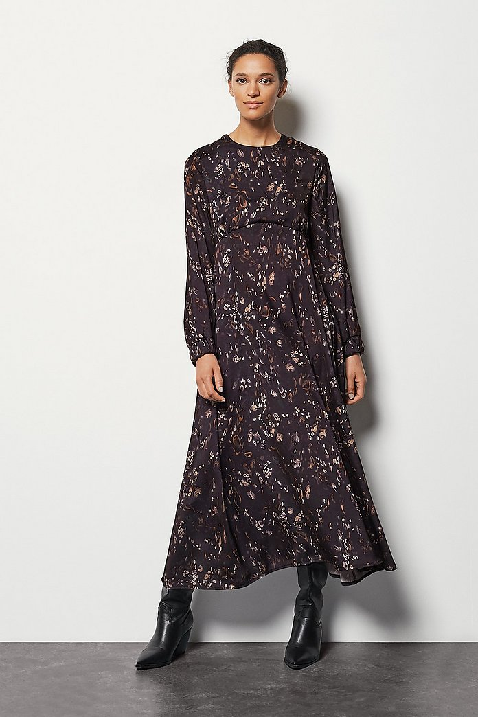 Camo Print Maxi Dress   Karen Millen
