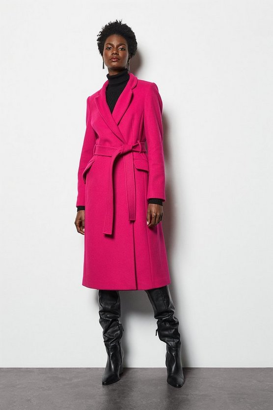 Pink Investment Notch Coat