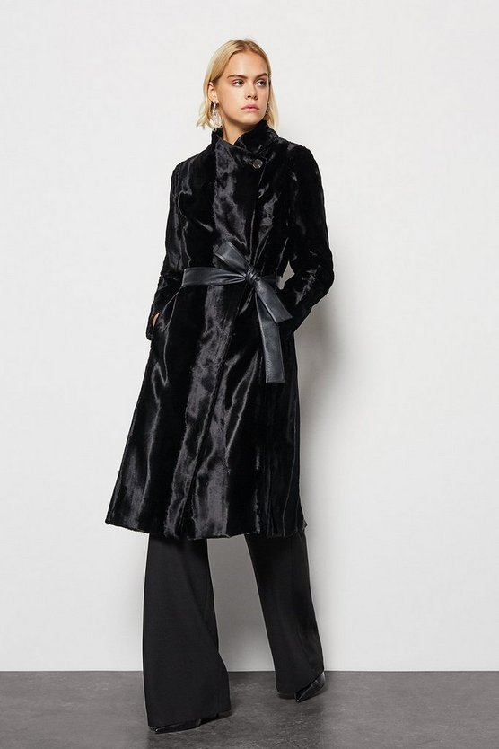 Black Pony Fur Coat